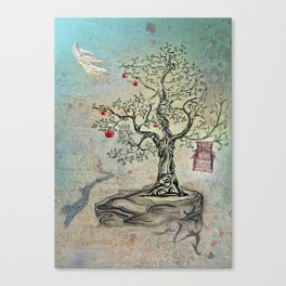 Fruits of Heaven - the Beauty of an Empty Birdcage Canvas Print