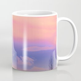 Alaskan Winter Fog Digital Painting Coffee Mug