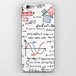 Math Cheat Sheet iPhone Skin