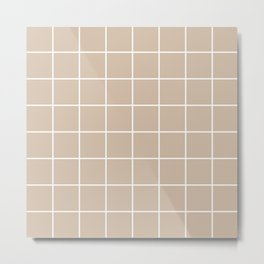 Bege squares Metal Print