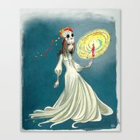day of the dead Canvas Prints featuring Day of the Dead by Jessica Fink