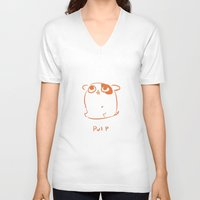 pulp V-neck T-shirts featuring Pulp by jayxle