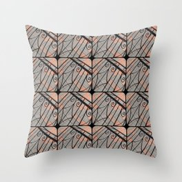 Curlicue Shadows  Throw Pillow