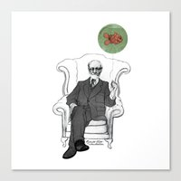 freud Canvas Prints featuring Freud by Roberta Zeta