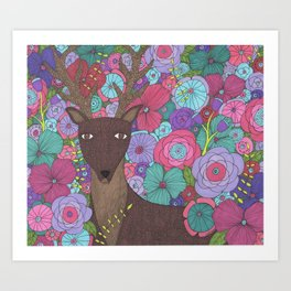 The Wise Stag Art Print