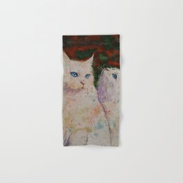 White Cats Hand & Bath Towel