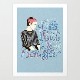 À bout de souffle - aleroundyou X f_e_l_i_x_x Art Print