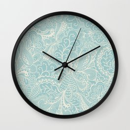 Tender doily pattern Wall Clock