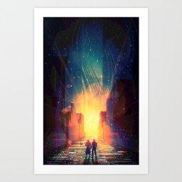 Flecks of Fire Art Print