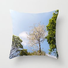 The Trees Up Above Throw Pillow
