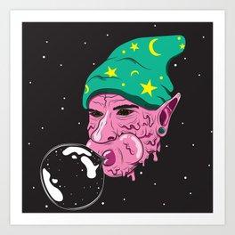 The Bubblegum Man Art Print