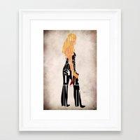 buffy the vampire slayer Framed Art Prints featuring Buffy the Vampire Slayer by Ayse Deniz