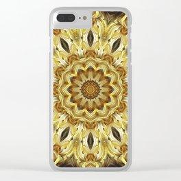 Flower Of Life Mandala (Tawny Autumn) Clear iPhone Case