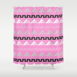 Mountains in blush pink Shower Curtain