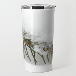Fir Needles in Snow Travel Mug