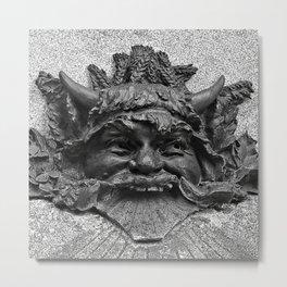 Mascaron Metal Print