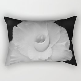 Black and White Gladiolus Rectangular Pillow