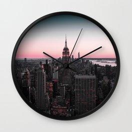 New York City Views Wall Clock