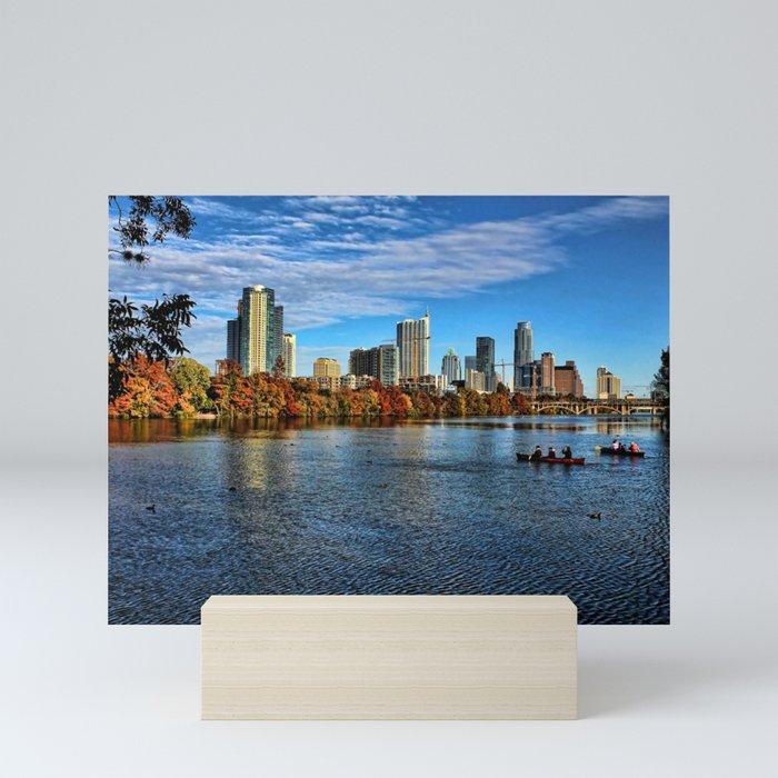 Austin Skyline From Lou Neff Point Mini Art Print