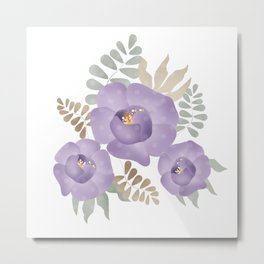 Light lilac roses. Metal Print