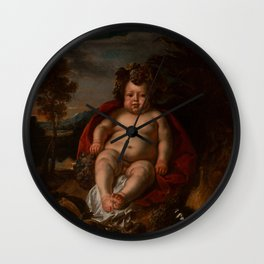 "Jacob Jordaens ""Bacchus as a child"" Wall Clock"
