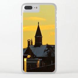 Sunset Sun Dog (1) Clear iPhone Case