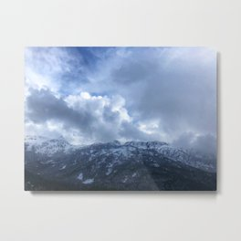 Snowy Mountains in Victoria, B.C (Canada) Metal Print