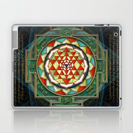 Maha Lakshmi (Laxmi) Mantra & Shri Yantra - Wealth Giving Laptop & iPad Skin