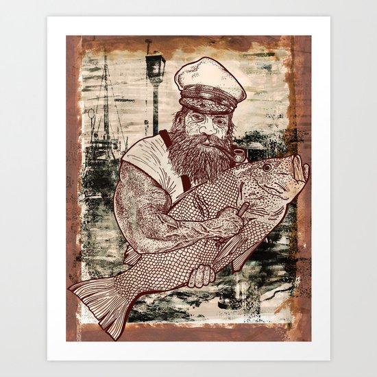 Respect the sea. Art Print