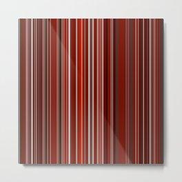 Red Fine Stripes Metal Print