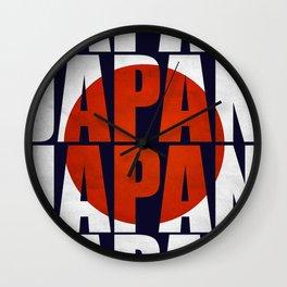 Japan /flag Wall Clock