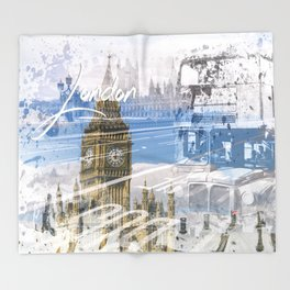 City Art WESTMINSTER Collage Throw Blanket