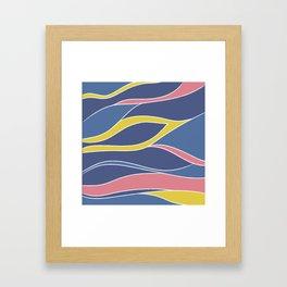 colorful waving Framed Art Print