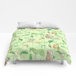 Watercolor Zoo Comforters