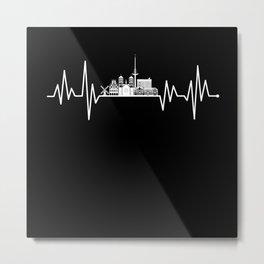 Munster Skyline Heartbeat Metal Print
