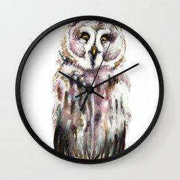 Gary The Great Gary Owl. Minimalist Style. Wall Clock