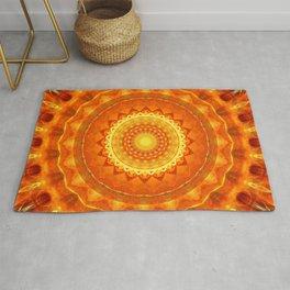 Mandala orange light Rug