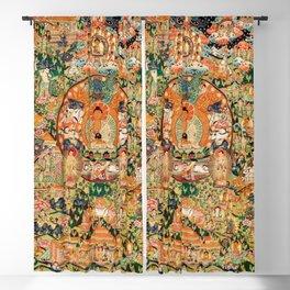 Life Of Buddha Thangka Mandarin Forest Blackout Curtain
