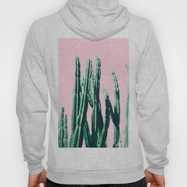 Green Cactus on Pink Hoody