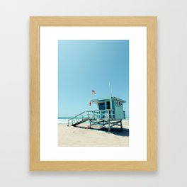 Rosecrans Tower in Manhattan Beach (El Porto) Framed Art Print