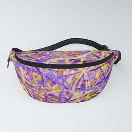 Purple and Gold Celebration Fanny Pack