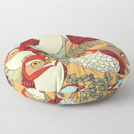 Burrowing Owl Family Floor Pillow