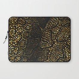 Black Gold Snake Skin Laptop Sleeve