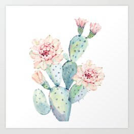 The Prettiest Cactus Art Print
