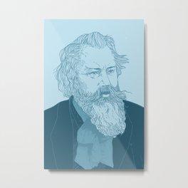 Get Ya Brahms On Metal Print