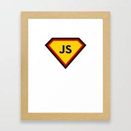 Java script - js programming language Framed Art Print