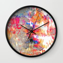 Look On The Bright Side Multcolored Abstract Wall Clock