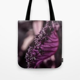 Abstract Purple Leaf in Morning Light Tote Bag