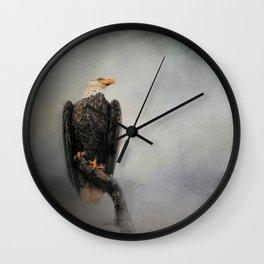 High Perch - Bald Eagle - Wildlife Wall Clock