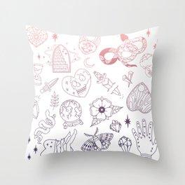 Spellcaster - Reverse Gradient Throw Pillow